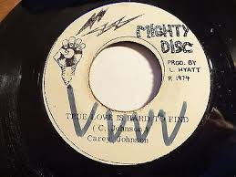 "popsike.com - Carey Johnson - True Love is hard to find 7"" Single Mighty  Disc - auction details"
