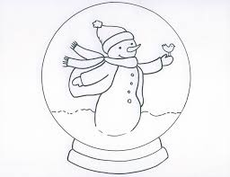 Small Picture Snow Globe Coloring Page glumme