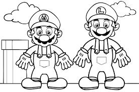 Coloriage De Mario Avec Son Frere Sur Jeu De Mario Com