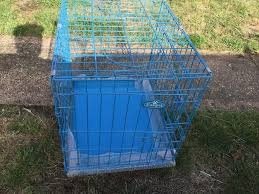 Light Blue Dog Crate Dog Crate Light Blue Metal In North Hykeham Lincolnshire Gumtree