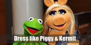 dress like miss piggy and kermit the frog the muppets costume for cosplay