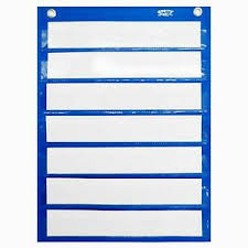 Details About Magnetic Pocket Chart With 10 Dry Erase Cards For Standards Daily Schedule Activ