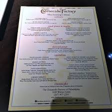 last week i was invited to the cheesecake factory in philadelphia to preview their new menu items thir of them to be exact plus cheesecake for dessert