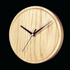 8 inch wall clock wooden clock natural wall round clock 8 inch modern style rustic wall 8 inch wall clock