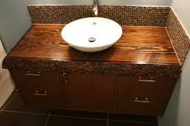 Custom Bathroom Vanity Tops Ideas Vessel Sink Wooden Vanities With