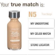 l oreal true match n5 true beige foundation