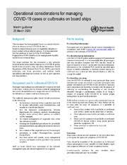 Operational considerations for managing COVID-19 cases/outbreak ...