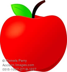 apple fruit clip art. clip art image of a shiny red apple for teacher fruit