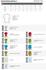 Louis Garneau Women S Size Chart Louis Garneau Cycling Size Chart For Mens Cycling Jerseys