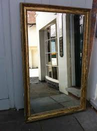 large 19th century french gilt original distressed wall mirror