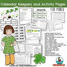 Calendar Number Cards For March Calendar Math Activities