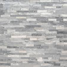 alaska gray mini panel 4 5x16 marble stacked stone backsplash wall natural stone