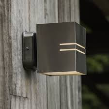 Lutec Tube Square W Exterior LED Up And Down Wall Light In - Exterior up down lights