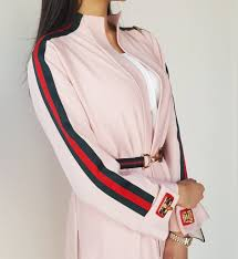 Light Pink Gucci Belt Aw17 Light Pink Gucci Inspired Lycra Sportsluxe Abaya With