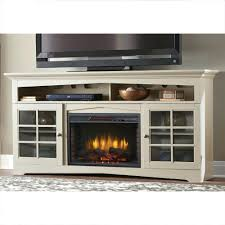 fireplace tv console frared stand white costco electric canada