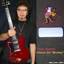 Iommi Designs Tony Iommi Stickers Decal Gibson Sg Monkey Custom Replica