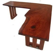 custom made hardwood office corner desk ideas