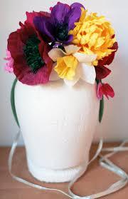 Paper Flower Hats Diy Vintage Crepe Paper Flower Hat Domesticspace