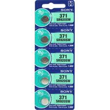 Silver Oxide Battery Chart 5 X Sony Watch Batteries Button Cell Sr920sw 371 Pack Of 5 Batteries