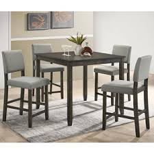 crown mark derick 5 piece counter height table set