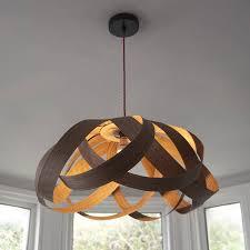 luxury wooden pendant light daisy lampshade by randomlight notonthehighstreet com walnut wood nz australium uk south africa melbourne perth singapore sydney