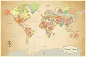 Amazon Com Personalized Push Pin World Map World Map With Pins