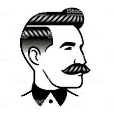 レトロな男の髪型の図 だらしない男のベクターアート素材や画像を多数