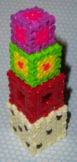perler bead projects cubes perler beads six sided die cube dice d6 3d
