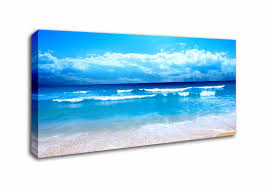 beach panoramic panel canvas prints