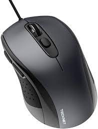 Buy tecknet kablolu fare, usb kablolu bilgisayar faresi, 3600dpi 4  ayarlanabilir seviye, 6 düğmeli ergonomik fareler, dizüstü bilgisayar  masaüstü dizüstü bilgisayar için ev ve ofis faresi - gri Online in Turkey.  B08QZBY6Z2