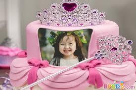 princess birthday cake with name and