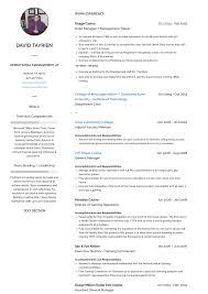 Sample General Manager Resume Assistant General Manager Resume Samples Templates Visualcv