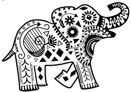 tribal coloring pages. Interesting Tribal Tribal Elephant Coloring Pages For Adults Download And On T