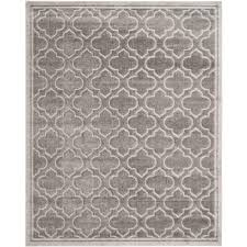 safavieh amherst gray light gray 10 ft x 14 ft indoor outdoor area rug amt412c 10 the home depot