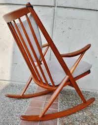 Modern Rocking Chair Danish Modern Teak Rocking Chair By Frank Reenskaug For Bramin At