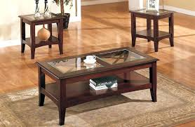 wood and glass end tables coffee tables end tables round glass coffee table sets furniture end