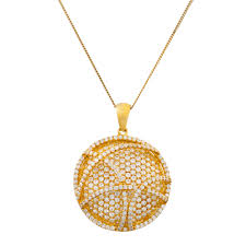 details about sterling silver 14k yellow gold plated white sapphire circle pendant necklace