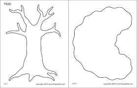 Template Tree Tree Templates Free Printable Templates Coloring Pages