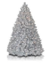 Silver Stardust Tinsel Christmas Tree