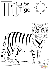 Small Picture T is for Tiger coloring page Free Printable Coloring Pages