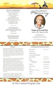 Memorial Pamphlet Template Free Memorial Program Template Download Funeral Program Template