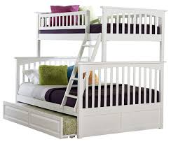 Amazon.com: Columbia Bunk Bed with Trundle Bed, Twin Over Full ...