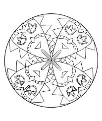Mandala A Colorier Facile Enfant 8 Mandalas Faciles Pour