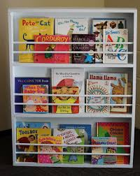 busybliss diy children s bookshelf with book covers showing