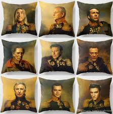 39 styles celebrities faces cushion covers european vintage bill murray david bowie nicolas cage art cushion cover sofa linen pillow case cushion cover