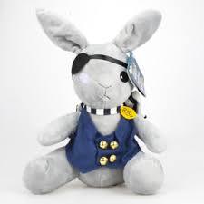 <b>Anime Kuroshitsuji Black Butler</b> Ciel Phantomhive Rabbit Plush Soft ...