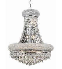 elegant lighting v1800d20c rc primo 14 light 20 inch chrome dining chandelier ceiling light in royal cut