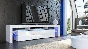 Tv Stand Lima Nova V2 White High Gloss Various Color Fronts