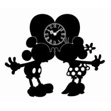 ディズニー メタルシルエットクロック ミッキーミニー
