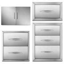 20 25 x14 drawer door combo unit stainless steel outdoor storage bbq island for